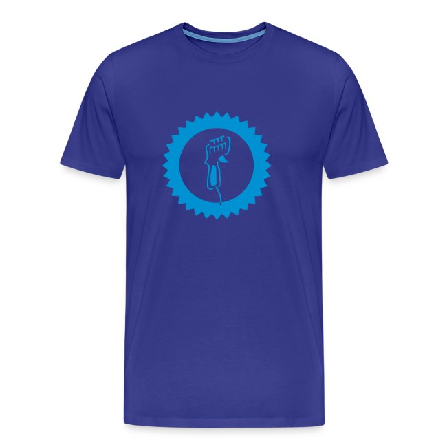 Controller - Shirt: blau; Druck: hellblau
