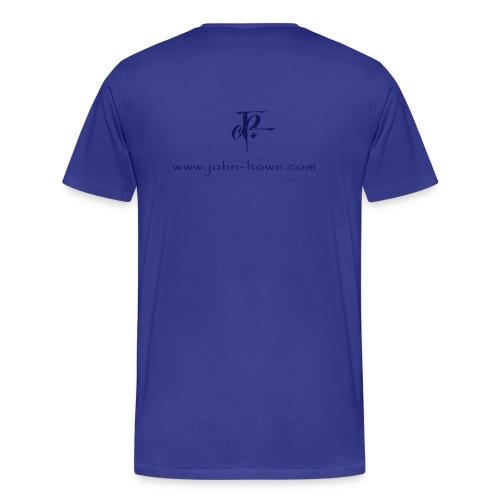 JH Comfort-T sky blue/navy - Men's Premium T-Shirt