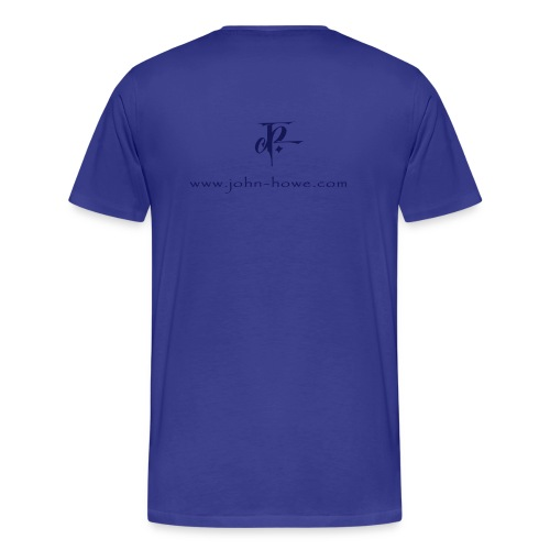 JH Comfort-T sky blue/navy - Men's Premium T-Shirt