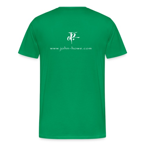 JH Comfort-T bottlegreen/white - Men's Premium T-Shirt