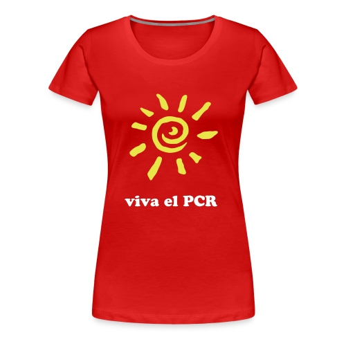 PCR Girlie-Shirt Viva El PCR, rot - Frauen Premium T-Shirt