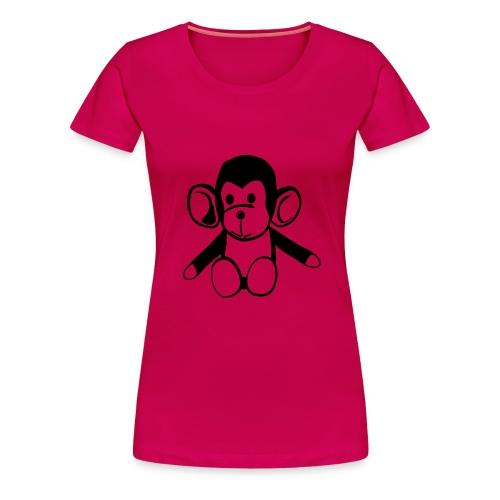 Naisten premium t-paita - Naisten t-paita apina -aiheisella painatuksella.