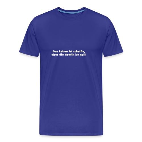 leben_grafik - blau - Männer Premium T-Shirt
