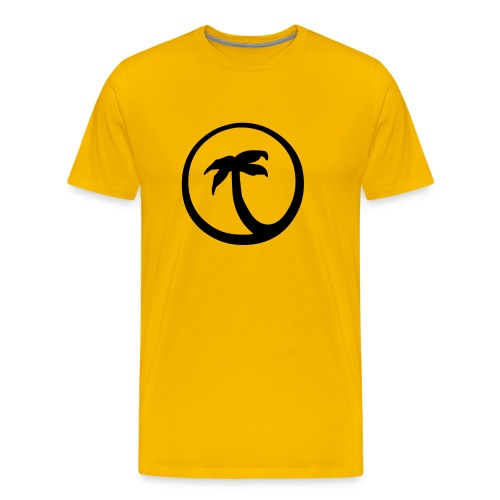 Palme gelb - Männer Premium T-Shirt