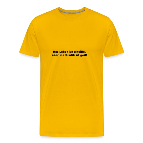 leben_grafik - gelb - Männer Premium T-Shirt