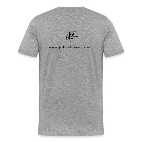 JH Comfort-T ash/black - Men's Premium T-Shirt