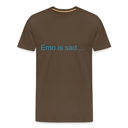 Emo is sad - Click to change colour - Men's Premium T-Shirt