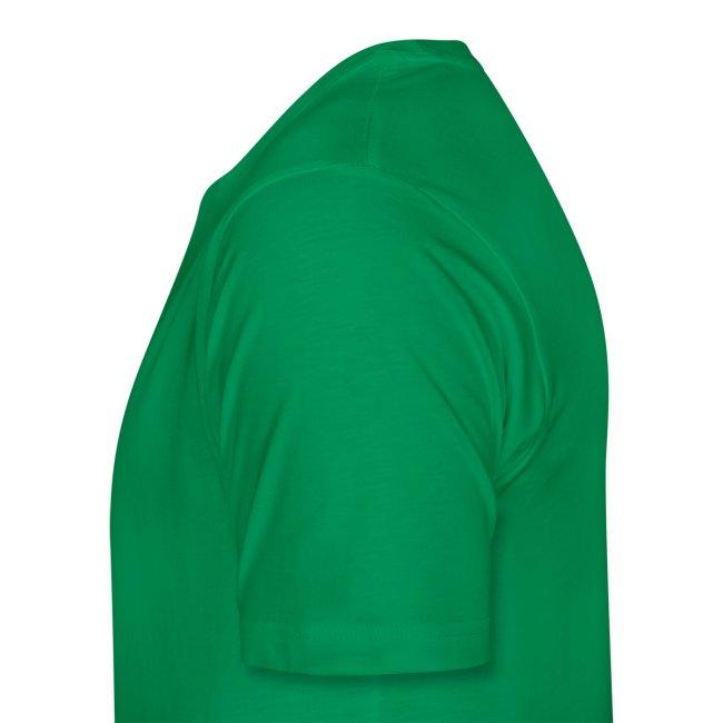 Individuelles Slotcar Shirt: grün; Druck: gelb