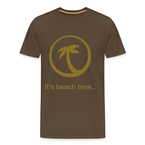Gold Metallic - Beach time - Männer Premium T-Shirt