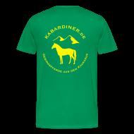 T-Shirts ~ Männer Premium T-Shirt ~ dunkelgrün mit Logo hinten