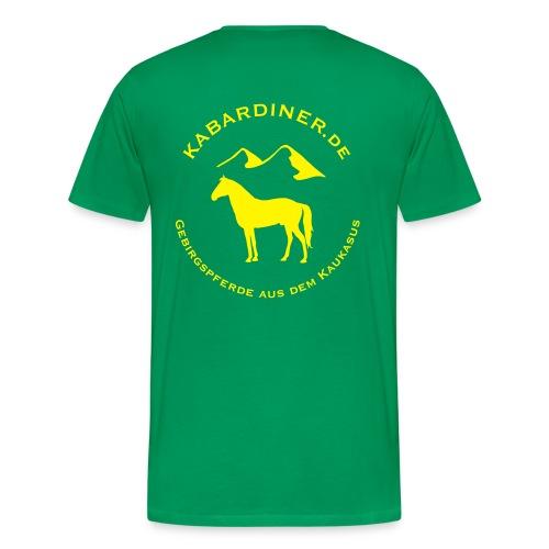 dunkelgrün mit Logo hinten - Männer Premium T-Shirt
