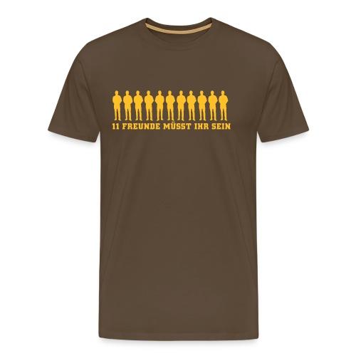 11 Freunde braun - Männer Premium T-Shirt
