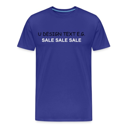 Advertise your business, email your logo to studio@udesign.co.uk today - Men's Premium T-Shirt