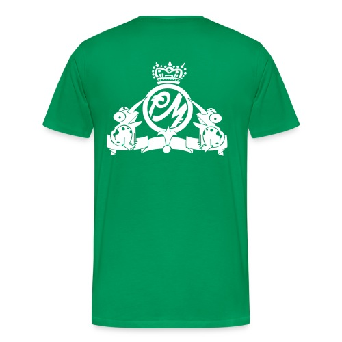Puppetmastaz Emblem Bottle_Green/White - Men's Premium T-Shirt