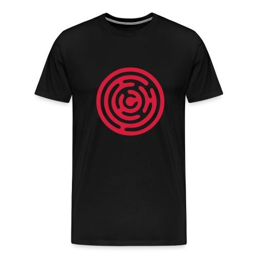 Classic black tshirt, red logo - Men's Premium T-Shirt