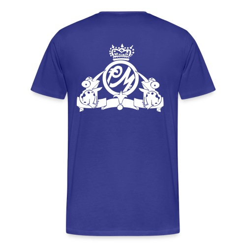Puppetmastaz Emblem Royal Blue/White - Men's Premium T-Shirt