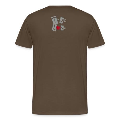 Cry, Jesus loves you tee - brown - Men's Premium T-Shirt