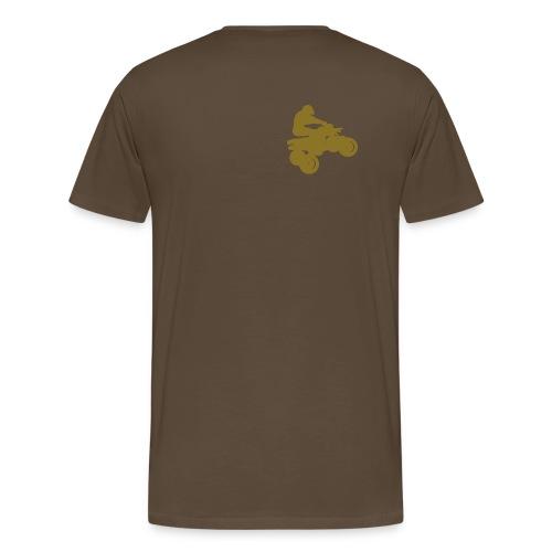 CAMISETA MARRON QUAD - Camiseta premium hombre