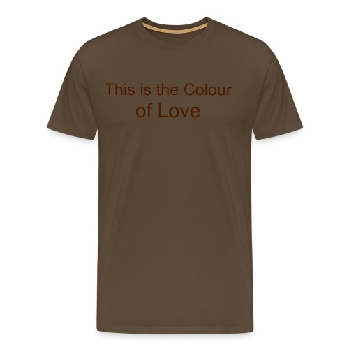 The Colour of Love - Premium T-skjorte for menn