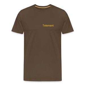 Telement Brown T-Shirt - Men's Premium T-Shirt