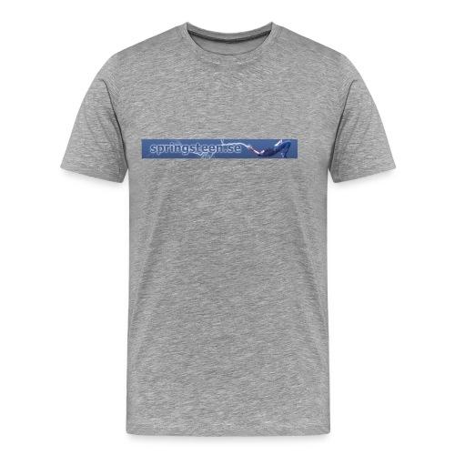 T-shirt i ljusgrått strl s-xxl - Premium-T-shirt herr