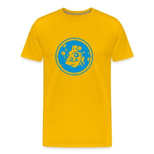 T shirt aquarium jaune et bleu - T-shirt Premium Homme