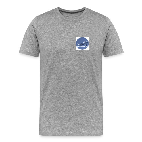 T-shirt i grått strl s-xxl - Premium-T-shirt herr