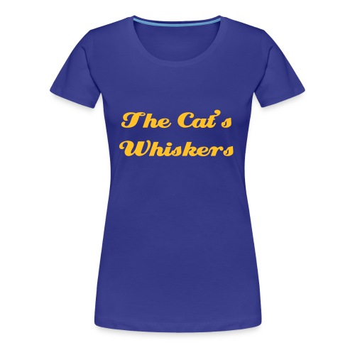 Blue T with front and back - Women's Premium T-Shirt