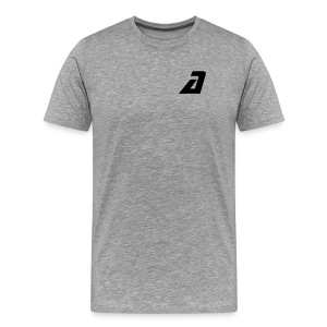 'a' shoulder tee - Men's Premium T-Shirt