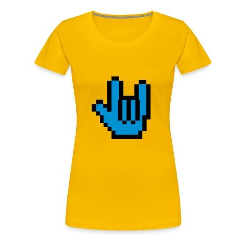 ILY Pixel - Frauen Premium T-Shirt