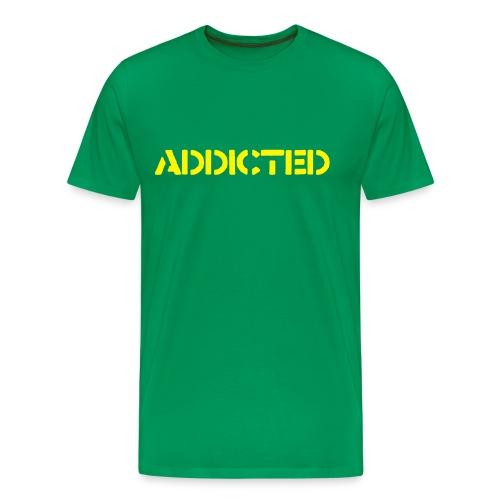 Grön Addicted t-shirt - Premium-T-shirt herr