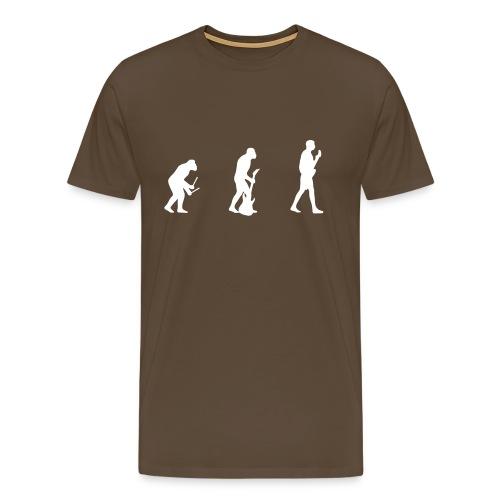 Evolution - Brown - Men's Premium T-Shirt