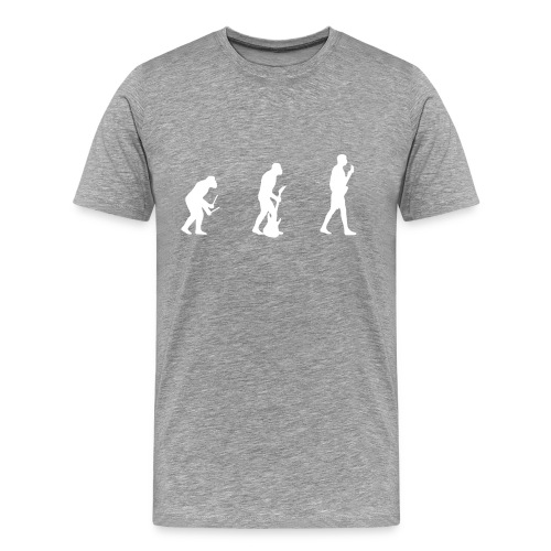 Evolution - Grey - Men's Premium T-Shirt