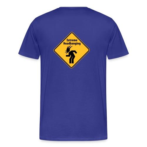 Extreme Headbanging Metal T-Shirt Blue (M) - Maglietta Premium da uomo