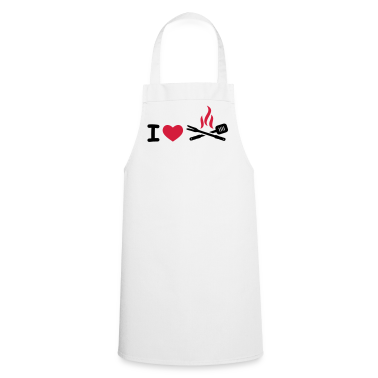 White I Love BBQ  Aprons