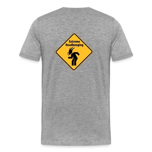 Extreme Headbanging Metal T-Shirt Grey (M) - Maglietta Premium da uomo