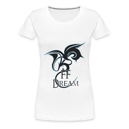 Classique FFDream - logo bleu - T-shirt Premium Femme
