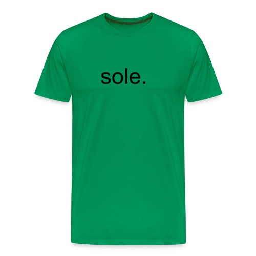 green sole. - Men's Premium T-Shirt
