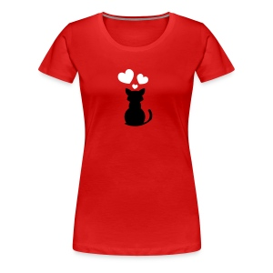 Kittie In Love - Women's Premium T-Shirt