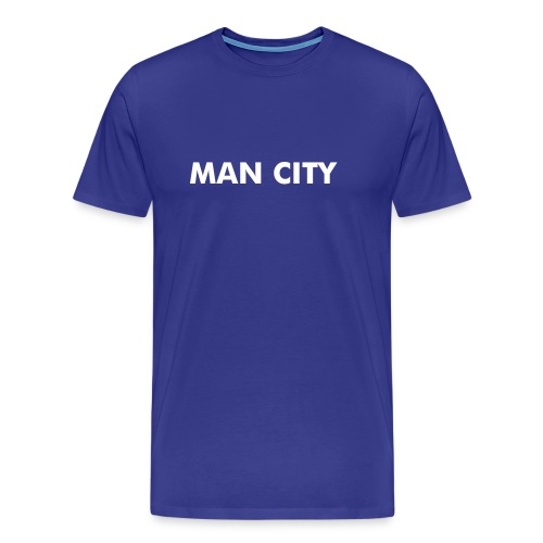Man City - Premium T-skjorte for menn
