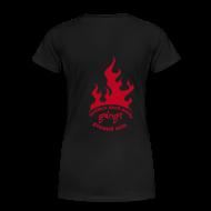 T-Shirts ~ Frauen Premium T-Shirt ~ Ladys Shirt Flammenlogo am Rücken