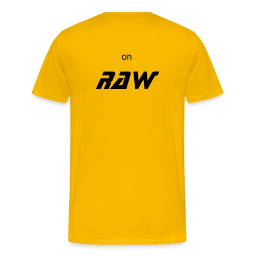 on raw yellow - Mannen Premium T-shirt