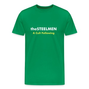 theSTEELMEN A Cult Following Tee (Green) - Men's Premium T-Shirt