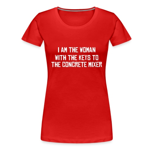 Young (Female) Concrete Worker - Women's Premium T-Shirt