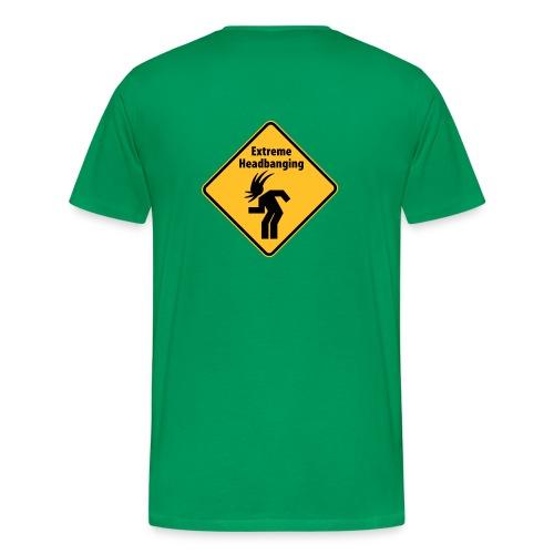 Extreme Headbanging Metal T-Shirt Green (M) - Maglietta Premium da uomo
