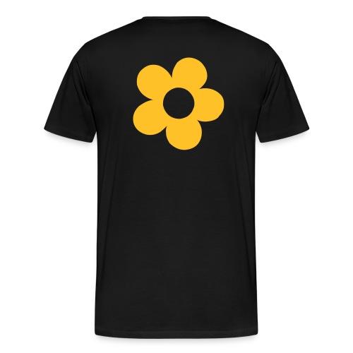 human & being flower back - Camiseta premium hombre