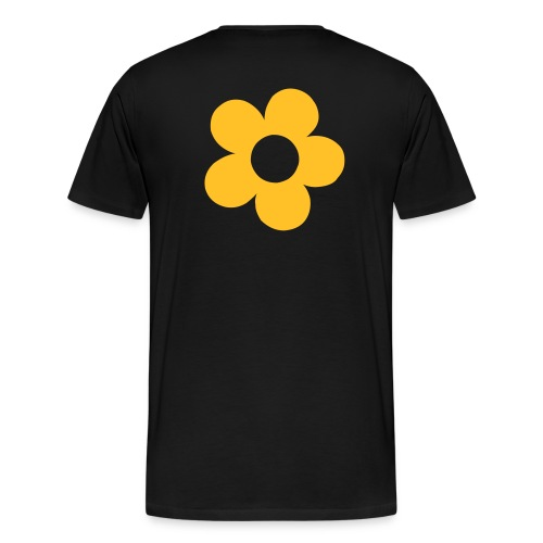 human & being flower back - Camiseta premium hombre