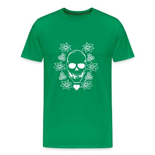 Green Skull - Premium T-skjorte for menn