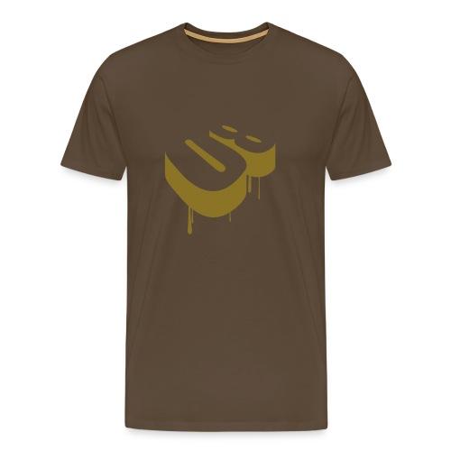 08 (gold) - Miesten premium t-paita