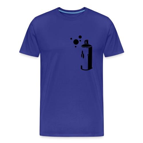 Sprayburk - Premium-T-shirt herr